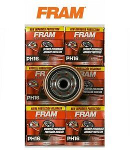 NEW LOT OF 6 Oil Filter PH16 FRAM Engine -Extra Guard Fits-Chrysler, Dodge