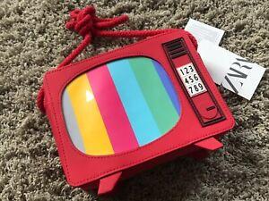 NEW + Tags Cute Rare ZARA Kids Retro Vintage TV Television Shaped Novelty Bag