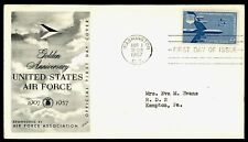 UNITED STATES AIR FORCE GOLDEN ANNIVERSARY - 50 YEARS -  1957 FIRST DAY COVER