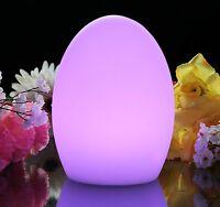 19cm Œuf Lampe D'Ambiance - Fonctionne à Piles Capteur Lumière Del pour Maison,