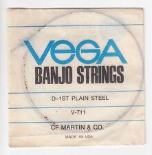 Vintage CF Martin & Co VEGA V-711 Banjo String D-1st Plain Steel