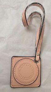 NEW Catherine Malandrino Pink Leather Hangtag Tag Fob Accessory for Handbag Bag