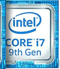 1 x Intel Core i7 9th blue Metallic sticker laptop and Desktop logos 18mm x 18mm