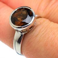 Smoky Quartz 925 Sterling Silver Ring Size 7.5 Ana Co Jewelry R46044