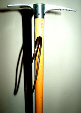 METAL ICE AXE ALPINE WALKING STICK WOODEN CANE WALKING STICK AID POLE SPIKE END