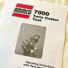 Ammco 7900 Twin Disc Cutter Installation Operation Amp Parts Diagrams Manual