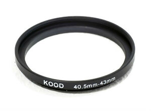 40.5mm-43mm 40.5-43 Stepping Ring Filter Ring Adapter Step up