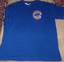 NEW MLB Chicago Cubs Jersey Style T Shirt BIG 4XL XXXXL Men NEW NWT
