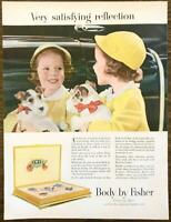 1952 General Motors Body by Fisher PRINT AD Very Satisfying Reflection