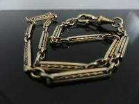 VICTORIAN ANTIQUE BEAUTIFUL ORNATE ALBERT LONG POCKET WATCH CHAIN GOLD FILLED