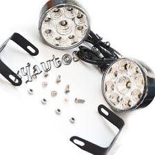2pcs 2.8 Inch 9 LED Round Daytime Driving Running Light DRL Car Fog Lamp 12V
