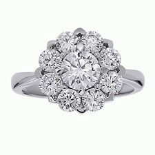 Sterling Silver Engagement Ring Gorgeous Flower Cubic Zirconia Daisy Ring