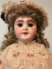 "Antique 24""Jumeau French Bebe Doll, Bisque Depose SFBJ Head, Compo/wood body"