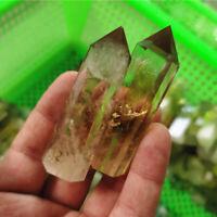 50-60mm Natural Citrine Quartz Stone Obelisk Healing Crystal Point Wand Reiki