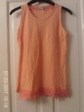 ORANGE SLEEVELESS TOP AGED 13