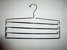Pants Slacks Hanger Organizer 4-tier Swing Out Arms Chrome Finish Non- Slip New