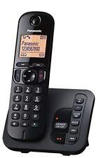 Nuevo Panasonic KX-TGC220 Teléfono Inalámbrico DECT principal con Contestador Automático Negro