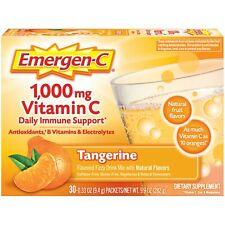 30 Packets EMERGEN-C 1000 Mg Vitamin C TANGERINE Daily Immune Support