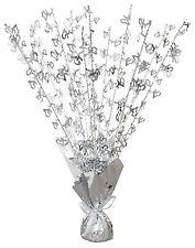 Tischdekorationen in Silber für Hochzeiten