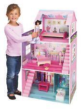 énorme bois Maison de poupée rose 3 étages 106 x 61 x 29 cm
