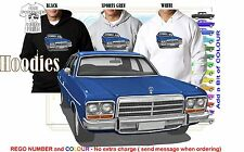 76-78 CL VALIANT SEDAN COUPE HOODIE ILLUSTRATED CLASSIC RETRO MUSCLE CAR