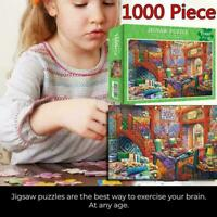 1000 Piece Quilt Shop Learning Toy Game For Adults Jigsaw Gift S2L8 S9Z3