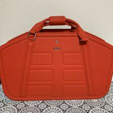 Ferrari Red Leather Traveling Bag New