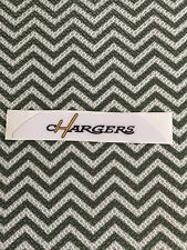 Full Size San Diego chargers Football Helmet Bumper Decal