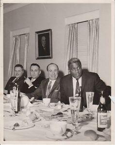 Jackie Robinson 8x10 Original Vintage Photo Dinner Fair Condition