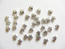 50 Metal Antique Silver Star Shape Spacer Beads - 5mm