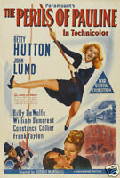 The perils of Pauline Betty Hutton movie poster print