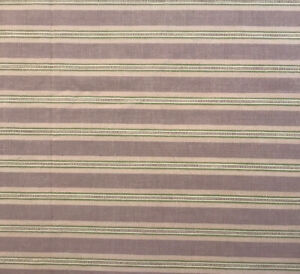 WAVERLY GARDEN ROOM Lavender Purple Green Striped Oval Tablecloth 60X84 Easter