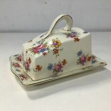 Royal Winton Grimwades Floral Pattern Covered Porcelain Butter Dish #5317