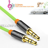 6FT 3.5mm AUX Auxiliary CORD Male to Male Stereo Audio Cable for iPod MP3 CAR
