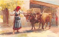 Cartolina - Postcard- Alberto Sousa - Portogallo - Minho - Mulher com junta