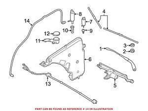 For BMW Genuine Headlight Washer Hose Front 61677241677