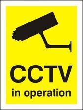 CCTV IN OPERATION SIGN RIGID PLASTIC 200mm x 150mm WARNING SECURITY NOTICE UK