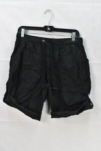 Calvin Klein Womens Convertible Cargo Bermuda Shorts, Black, Size S, $50,*Defect