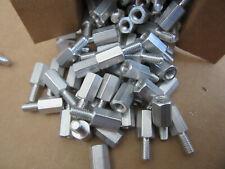 "(100) RAF 4575-1032-AL Standoffs Aluminum Male/Female 10/32 X 1/2"" Long NEW!!!"