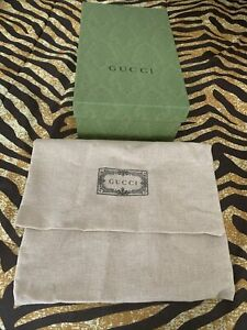 Authentic Gucci Gift Box  NEW 11X7X3 1/2 WITH DUST BAG