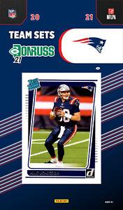 New England Patriots 2021 Donruss Team Set Mac Jones Rated Rookie Card 255 Brady