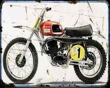 HUSQVARNA 400 CROSS 3 A4 métal signe Moto Vintage Aged