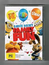 Despicable Me / Hop / Dr.Seuss' The Lorax (3-Movie Collection) Dvds New & Sealed