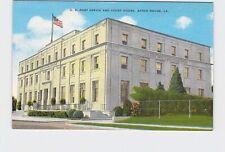 PPC Postcard LA Louisiana Baton Rouge U.S. Post Office And Court House Exterior