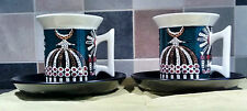 Portmeirion. Susan Williams Ellis.  Magic City. 2 Cups and Saucers.