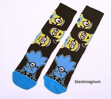 20 PAIRS Mens Ladies Adults Black Despicable Me Minion Minions Socks - UK 6-11