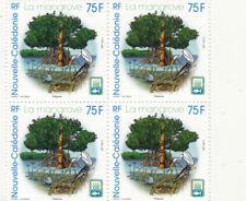 4 TIMBRES nouvelle-calédonie 75 francs la mangrove neufs