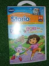 VTECH STORIO GAME DORA THE EXPLORER & THE THREE LITTLE PIGS COMPLETE BRAND NEW