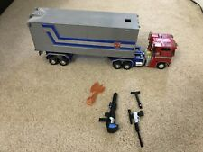 USED Transformers Masterpiece Optimus Prime (20th Anniversary) W/ TRAILER MP-1