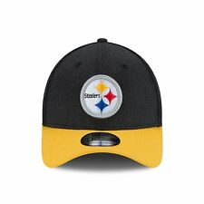 PITTSBURGH STEELERS ADULT SMALL-MEDIUM S-M 1-FIT STRETCH FLEX BLACK TOP CAP HAT